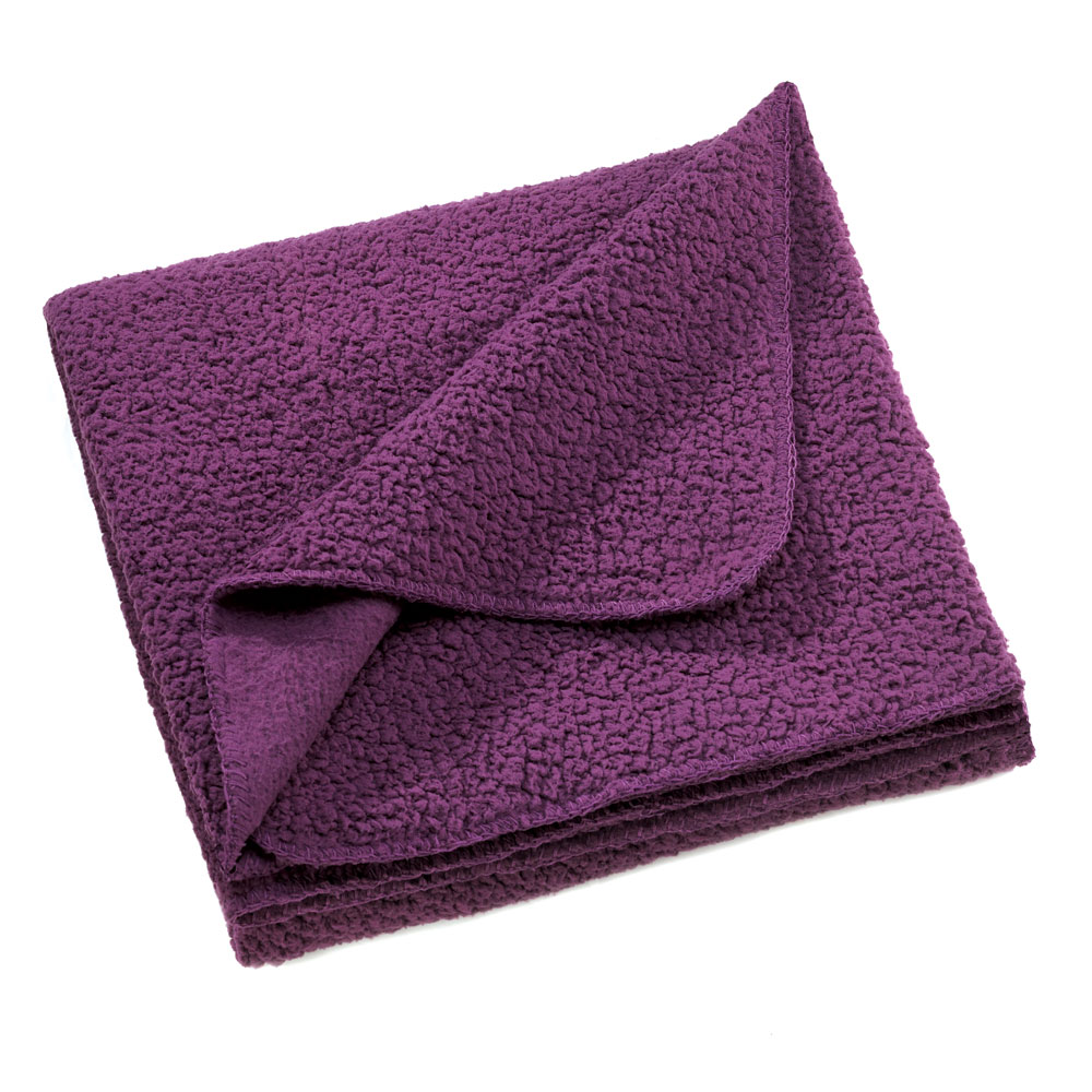 Purple Sherpa Fleece Blanket