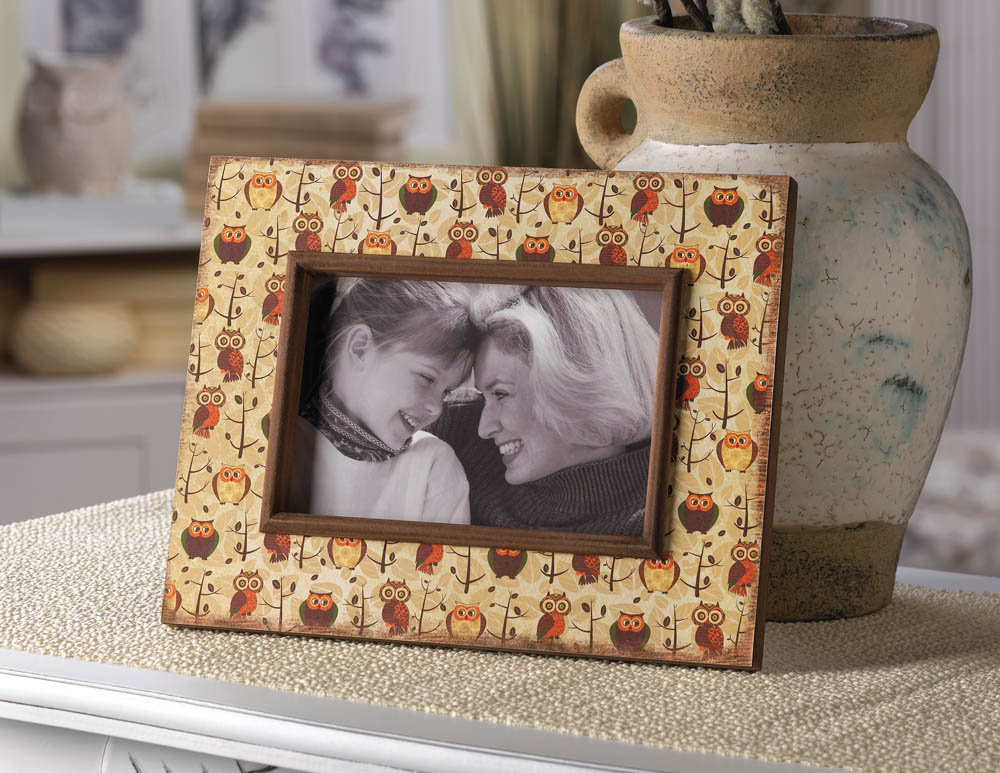 Retro Owls Photo Frame