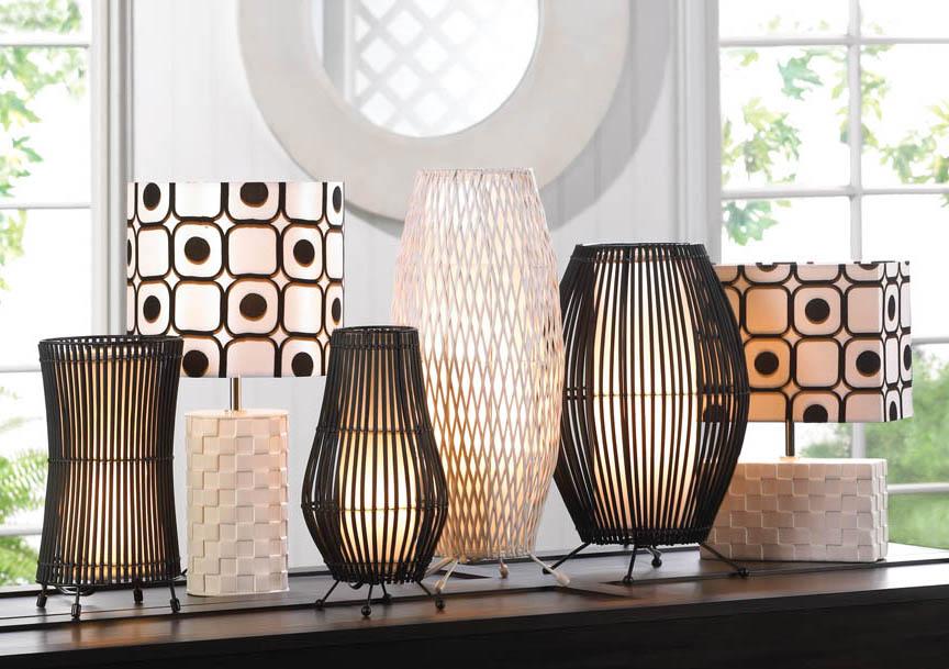 White Woven Floor Lamp