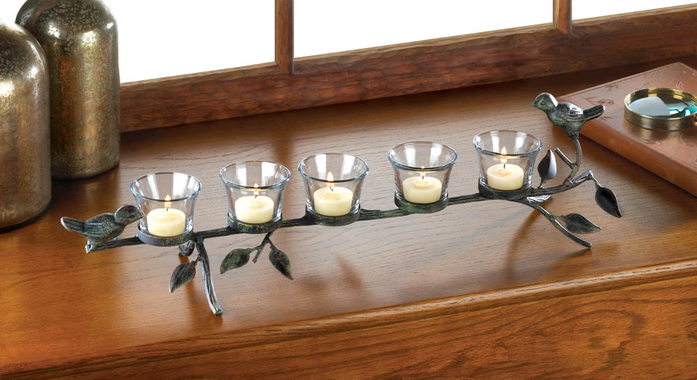 Birds on a Branch Candleholder