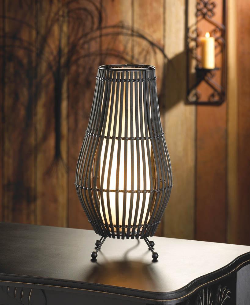 Metal Slat Hourglass Lamp