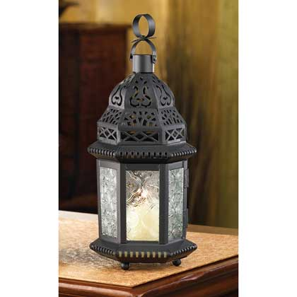 Clear Glass Moroccan Lantern