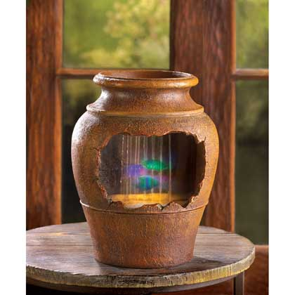 Light up Gercian Urn Fountain