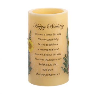 Birthday Heartnotes Candle