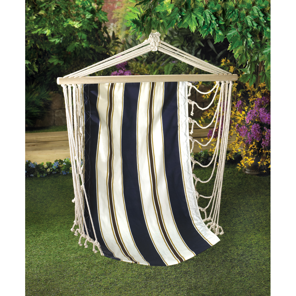 Navy Striped Hangin Chair