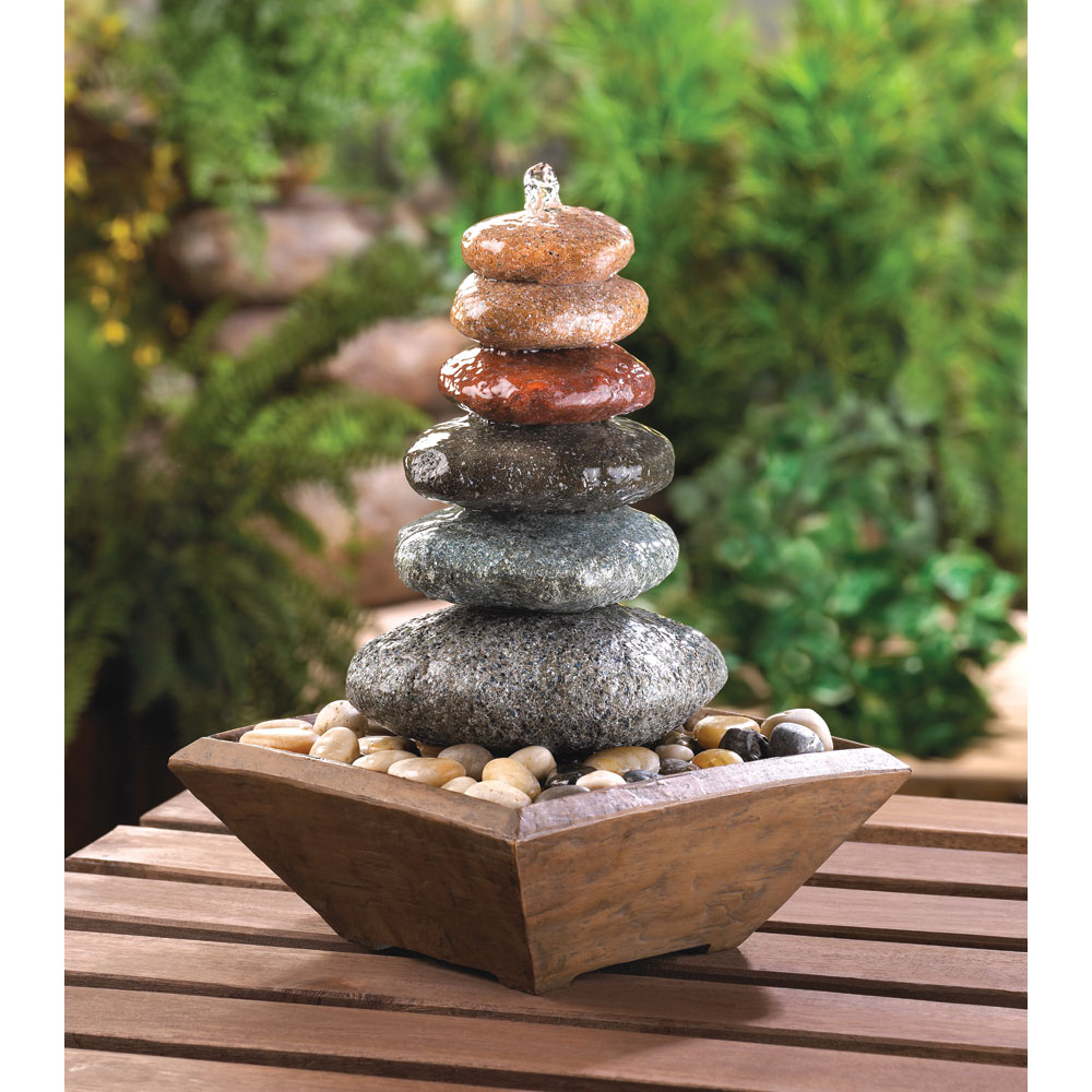 Zen Stacked Stone Fountain