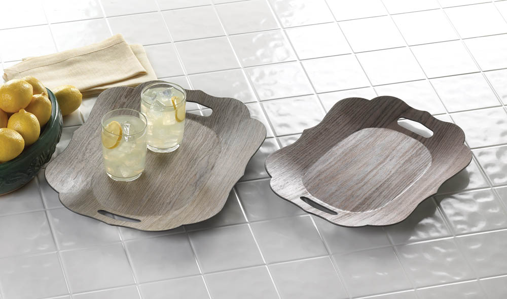 Scallop Edge Trays