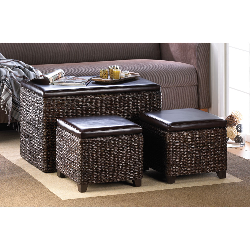 Trunk and Ottoman Trio