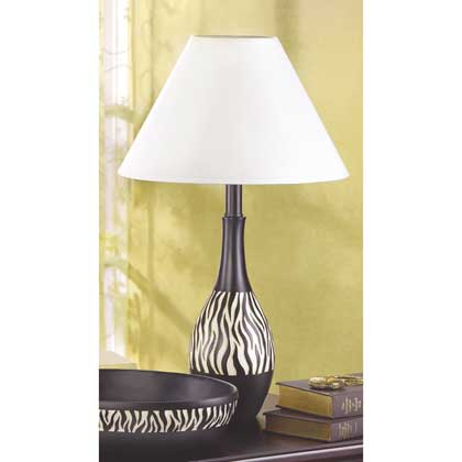 Zebra Stripe Lamp
