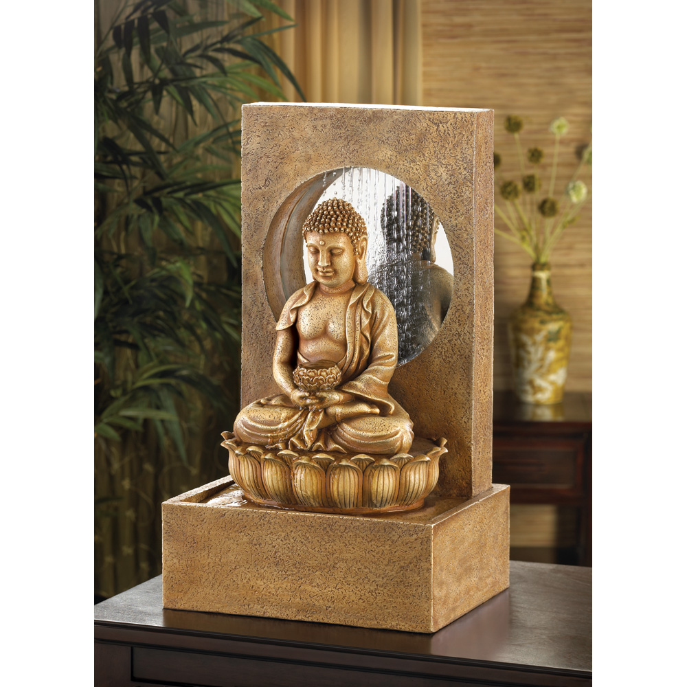 Serene Buddha Fountain